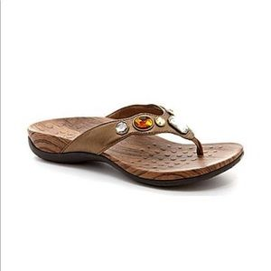 Vionic Eve Orthaheel Jeweled Bronze Sandals 10